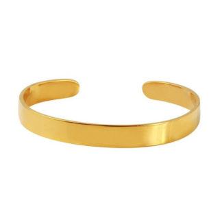 Open Cuff Bangle Bracelet Yellow Gold