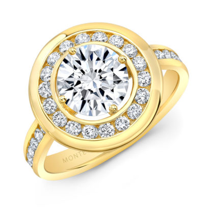 Split Shank Halo Bridal Ring