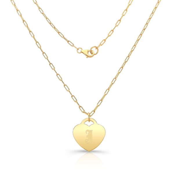 Gold Vermeil Heart Pendant J