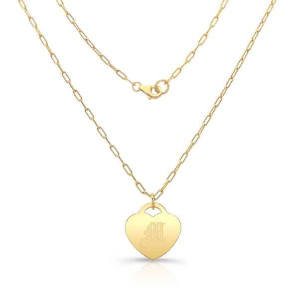 Gold Vermeil Heart Pendant M