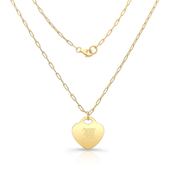 Gold Vermeil Heart Pendant W