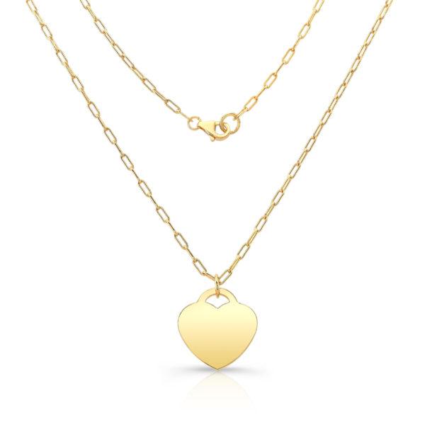 Gold Vermeil Heart Pendant Necklace