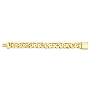 15mm Cuban Link Gold Bracelet