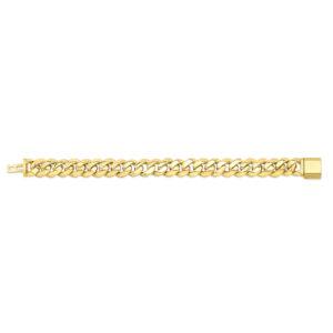 14mm Cuban Link Gold Bracelet