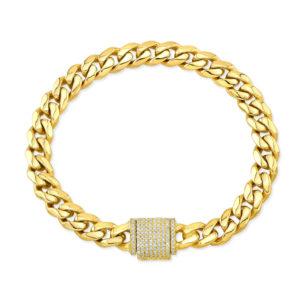 Plain Gold Cuban Bracelet