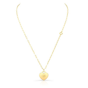Lily Heart Pendant Necklace