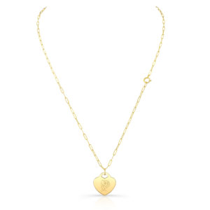 Rose Heart Pendant Necklace