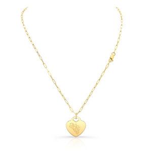 Tulip Heart Pendant Necklace
